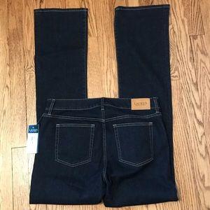 NWT Lauren Ralph Lauren Dark Straight Jeans 8 J8